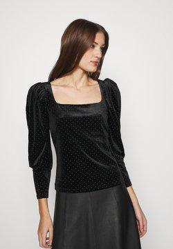 Dorothy Perkins - SPARKLE SQUARE NECK - Maglietta a manica lunga - black