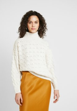 Topshop - TEXTURED FUNNEL - Trui - off-white