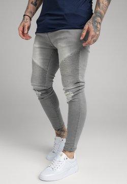 SIKSILK - DISTRESSED BIKER  - Skinny-Farkut - washed grey