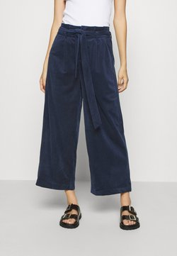 Vero Moda - VMLONDYN PAPERBAG CULOT - Pantalon classique - navy blazer