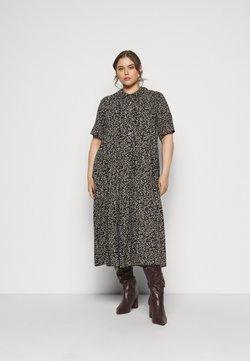 Zizzi - MIDI DRESS - Shirt dress - black