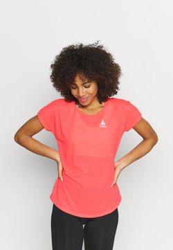 ODLO - RUN EASY LINENCOOL CREW NECK - Camiseta estampada - siesta melange
