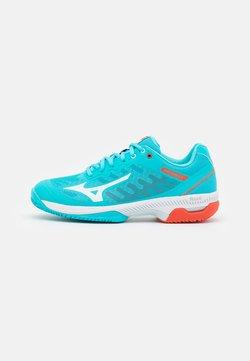 Mizuno - WAVE EXCEED SL 2 CC - da tennis per terra battuta - scuba blue/white/mandarin red