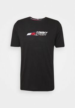 Tommy Hilfiger - ESSENTIALS TRAINING TEE - T-Shirt print - black