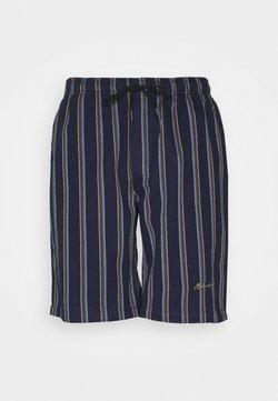 Mennace - FINE PREPPY STRIPE PULL ON UNISEX  - Shorts - navy
