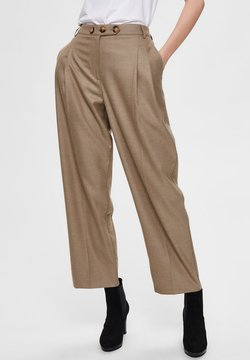 Selected Femme - HIGH WAIST - Chinot - camel