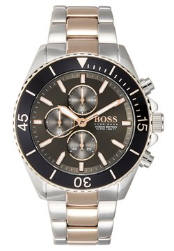 BOSS - OCEAN EDITION - Montre à aiguilles - black/roségold-coloured