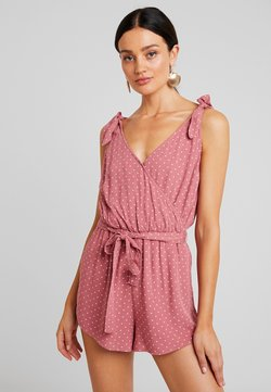 Abercrombie & Fitch - V NECK ROMPER - Combinaison - red ditsy