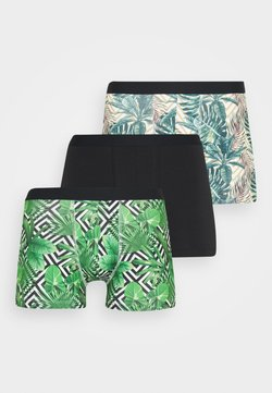 Pier One - 3 PACK - Shorty - black/green