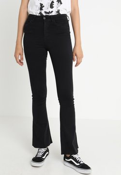 Gina Tricot - Flared jeans - black