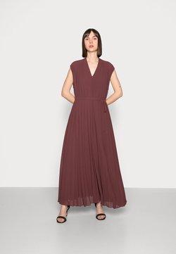 Samsøe Samsøe - WALA LONG DRESS - Vestido de fiesta - decadent choco