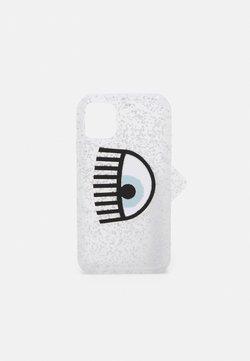 CHIARA FERRAGNI - LOGOMANIA GLITTER CASE IPHONE 11 - Kännykkäpussi - silver