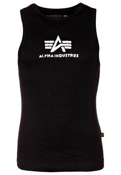 Alpha Industries - LOGO TANK - Top - black/white