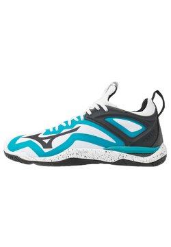 Mizuno - WAVE MIRAGE 3 - Zapatillas de balonmano - white/black/enamel blue