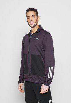 adidas Performance - FABRIC MIX AEROREADY SPORTS TRACKSUIT - Trainingsanzug - noble purple/black