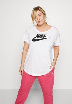 Nike Sportswear - TEE FUTURA PLUS - T-Shirt print - white/black
