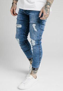 SIKSILK - SKINNY CUFFED JEANS - Jeans Skinny Fit - blue