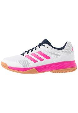 adidas Performance - SPEEDCOURT - Handballschuh - footwear white/shock pink/collegiate navy