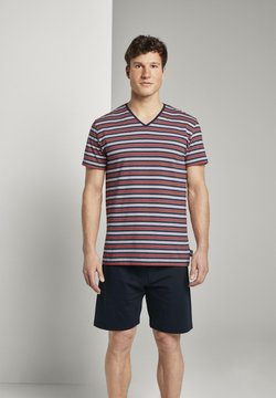 TOM TAILOR - Pyjama - red-medium-horizontal stripe