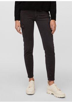 Marc O'Polo - LULEA SLIM MID WAIST  - Jeans Slim Fit - dark atlantic