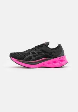 ASICS - NOVABLAST - Zapatillas de running neutras - black/pink glow