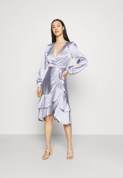Nly by Nelly - EYES ON ME RUCHED DRESS - Vestido de cóctel - dusty blue