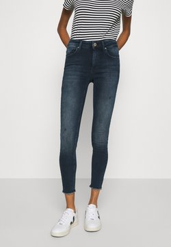 ONLY - ONLBLUSH LIFE MID RAW  - Jeans Skinny Fit - blue / black