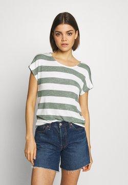 Vero Moda - VMWIDE STRIPE TOP  - T-shirt med print - laurel wreath/snow white