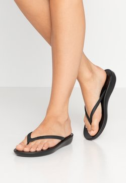 FitFlop - IQUSHION ERGONOMIC - Bade-Zehentrenner - all black