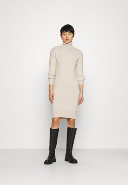 Dorothy Perkins - COSY ROLL NECK DRESS - Vestido de punto - oatmeal