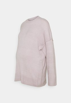 Cotton On - MATERNITY SIDE BUTTON  - Stickad tröja - burnished lilac