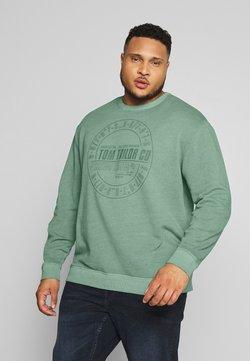 TOM TAILOR MEN PLUS - OVEDYED PRINT  - Sweatshirt - pale bark green / white melange green