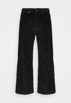 Afends - PABLO CORDUROY BAGGIE FIT  - Trousers - black