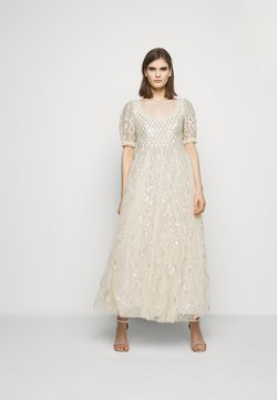 Needle & Thread - SEQUIN GINGHAM ANKLE GOWN - Gallakjole - champagne/blue