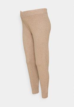 Pieces Maternity - PCMSALSA  PANTS - Pantalones - natural melange