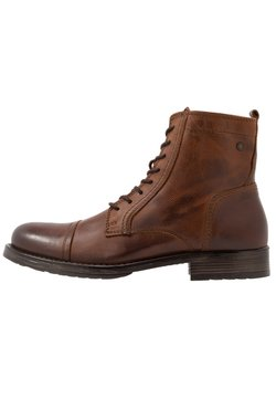 Jack & Jones - JFWRUSSEL - Bottines à lacets - cognac