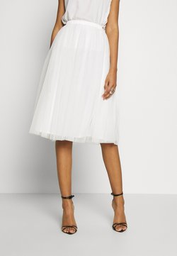 Lace & Beads - VAL SKIRT - Jupe trapèze - white
