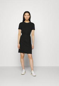 Calvin Klein - SHORT LOGO TEE DRESS - Vestido ligero - black