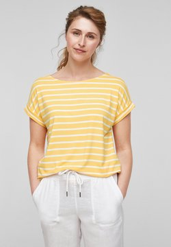 s.Oliver - T-Shirt print - sunset yellow stripes