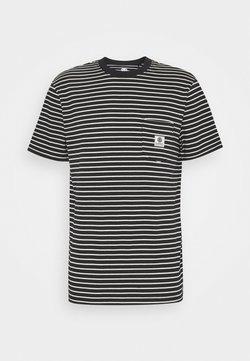 Element - BASIC STRIPES - T-shirt con stampa - flint black