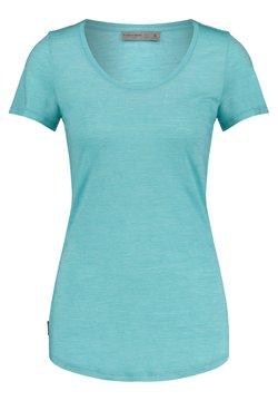 Icebreaker - WMNS SPHERE S/S SCOOP - T-Shirt basic - blau
