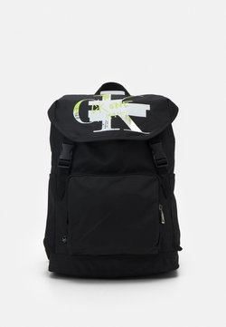 Calvin Klein - FLAP BACKPACK - Reppu - black