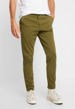 KnowledgeCotton Apparel - JOE STRETCHED  - Trousers - burned olive