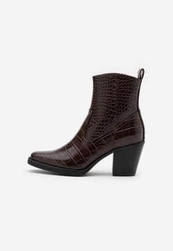 ONLY SHOES - ONLBELIZE STRUCTUR HEELED BOOT - Stiefelette - brown