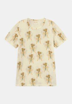 Mini Rodini - WINTERFLOWERS TEE UNISEX - T-shirt med print - yellow