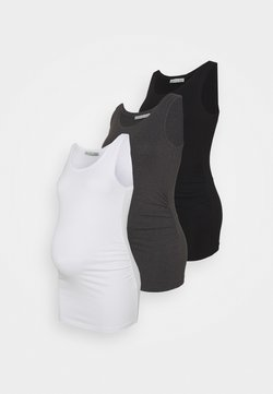 Anna Field MAMA - 3ER PACK  - Top - black/white/dark grey