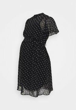 Dorothy Perkins Maternity - MONO FIT AND FLARE DRESS - Vapaa-ajan mekko - black/white