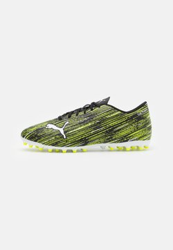 Puma - ULTRA 4.2 MG - Astro turf trainers - black/white/yellow alert