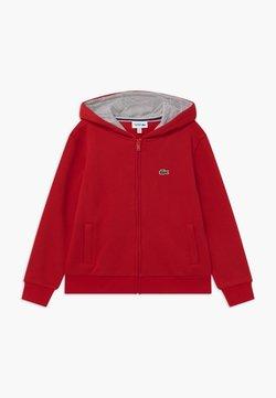 Lacoste Sport - TENNIS - veste en sweat zippée - red/silver chine