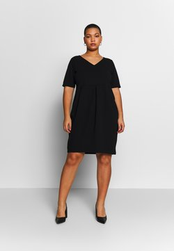 Anna Field Curvy - BASIC JERSEY DRESS - Trikoomekko - black